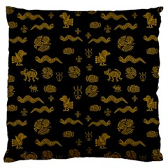 Aztecs Pattern Large Cushion Case (one Side) by ValentinaDesign