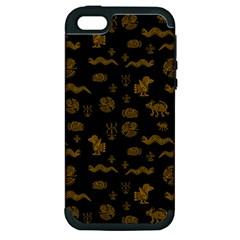 Aztecs Pattern Apple Iphone 5 Hardshell Case (pc+silicone) by ValentinaDesign