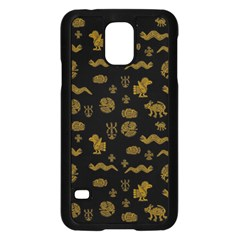 Aztecs Pattern Samsung Galaxy S5 Case (black) by ValentinaDesign