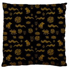 Aztecs Pattern Large Flano Cushion Case (two Sides) by ValentinaDesign
