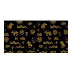Aztecs Pattern Satin Wrap by ValentinaDesign