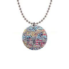 Colorful Paint            1  Button Necklace by LalyLauraFLM
