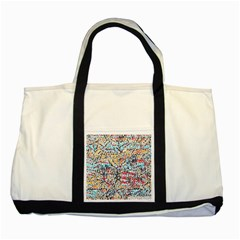 Colorful Paint            Two Tone Tote Bag by LalyLauraFLM
