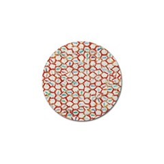 Honeycomb Pattern             Golf Ball Marker (4 Pack) by LalyLauraFLM