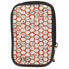 Honeycomb Pattern             Compact Camera Leather Case by LalyLauraFLM