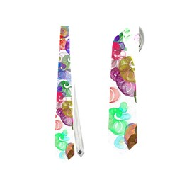Colorful Spirals On A White Background             Necktie by LalyLauraFLM