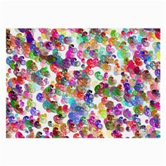 Colorful Spirals On A White Background             Large Glasses Cloth by LalyLauraFLM