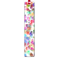 Colorful Spirals On A White Background             Large Book Mark by LalyLauraFLM