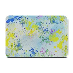 Watercolors Splashes              Small Doormat by LalyLauraFLM