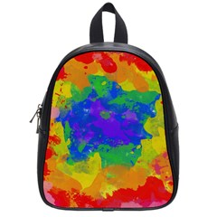 Colorful Paint Texture           School Bag (small) by LalyLauraFLM