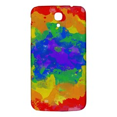 Colorful paint texture     Samsung Galaxy Note 4 PU Leather Hardshell Back Case by LalyLauraFLM