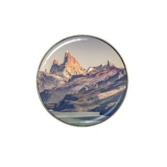 Fitz Roy And Poincenot Mountains Lake View   Patagonia Hat Clip Ball Marker by dflcprints