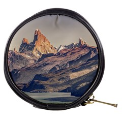 Fitz Roy And Poincenot Mountains Lake View   Patagonia Mini Makeup Bags by dflcprints