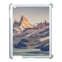 Fitz Roy And Poincenot Mountains Lake View   Patagonia Apple Ipad 3/4 Case (white) by dflcprints
