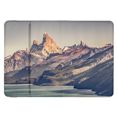 Fitz Roy And Poincenot Mountains Lake View   Patagonia Samsung Galaxy Tab 8 9  P7300 Flip Case by dflcprints