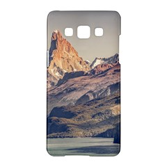 Fitz Roy And Poincenot Mountains Lake View   Patagonia Samsung Galaxy A5 Hardshell Case  by dflcprints