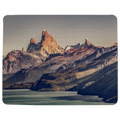Fitz Roy And Poincenot Mountains Lake View   Patagonia Jigsaw Puzzle Photo Stand (rectangular) by dflcprints