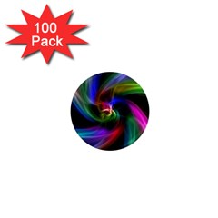 Abstract Art Color Design Lines 1  Mini Magnets (100 Pack)