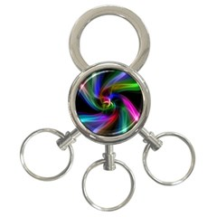 Abstract Art Color Design Lines 3 Ring Key Chains