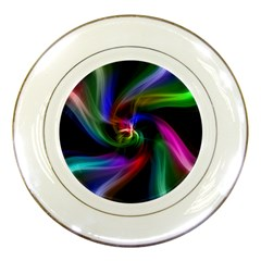 Abstract Art Color Design Lines Porcelain Plates by Nexatart
