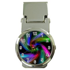 Abstract Art Color Design Lines Money Clip Watches