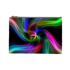 Abstract Art Color Design Lines Cosmetic Bag (large)  by Nexatart