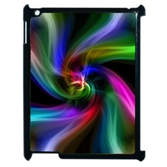 Abstract Art Color Design Lines Apple Ipad 2 Case (black) by Nexatart