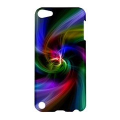 Abstract Art Color Design Lines Apple Ipod Touch 5 Hardshell Case by Nexatart