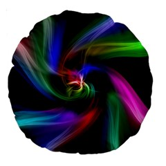 Abstract Art Color Design Lines Large 18  Premium Round Cushions