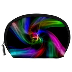 Abstract Art Color Design Lines Accessory Pouches (large)