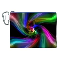Abstract Art Color Design Lines Canvas Cosmetic Bag (xxl) by Nexatart