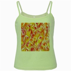Pretty Painted Pattern Pastel Green Spaghetti Tank