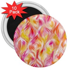 Pretty Painted Pattern Pastel 3  Magnets (10 Pack)