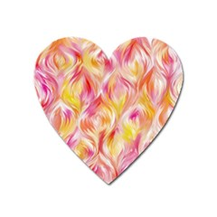 Pretty Painted Pattern Pastel Heart Magnet by Nexatart