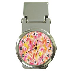 Pretty Painted Pattern Pastel Money Clip Watches by Nexatart
