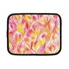 Pretty Painted Pattern Pastel Netbook Case (small)  by Nexatart