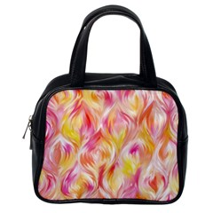 Pretty Painted Pattern Pastel Classic Handbags (one Side)