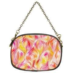 Pretty Painted Pattern Pastel Chain Purses (two Sides)