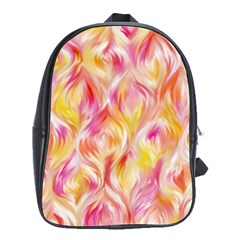 Pretty Painted Pattern Pastel School Bags(large)  by Nexatart