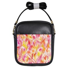 Pretty Painted Pattern Pastel Girls Sling Bags by Nexatart