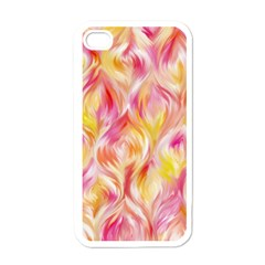 Pretty Painted Pattern Pastel Apple Iphone 4 Case (white) by Nexatart