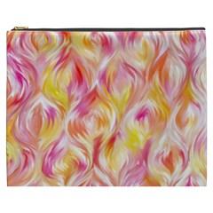 Pretty Painted Pattern Pastel Cosmetic Bag (xxxl)  by Nexatart