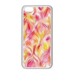 Pretty Painted Pattern Pastel Apple Iphone 5c Seamless Case (white) by Nexatart