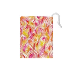 Pretty Painted Pattern Pastel Drawstring Pouches (small)  by Nexatart