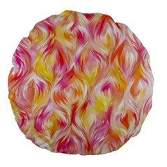 Pretty Painted Pattern Pastel Large 18  Premium Flano Round Cushions by Nexatart