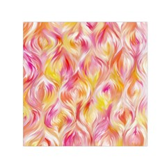 Pretty Painted Pattern Pastel Small Satin Scarf (square)
