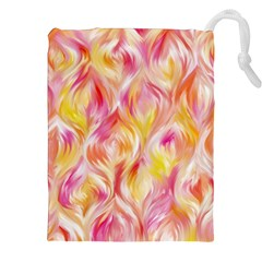 Pretty Painted Pattern Pastel Drawstring Pouches (xxl) by Nexatart