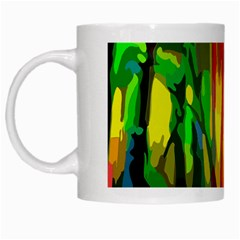 Abstract Vibrant Colour Botany White Mugs by Nexatart