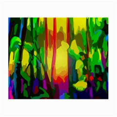 Abstract Vibrant Colour Botany Small Glasses Cloth by Nexatart
