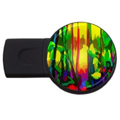 Abstract Vibrant Colour Botany Usb Flash Drive Round (4 Gb) by Nexatart
